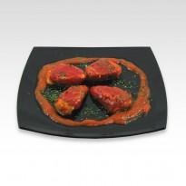 Pimientos del piquillo rellenos de carne. 260 g.