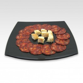 Chorizo ibérique de bellota en tranches. 100 g.