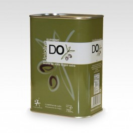 """Huile d'olive vierge extra """"Supremo"""". Bouteille inox 750 ml"""
